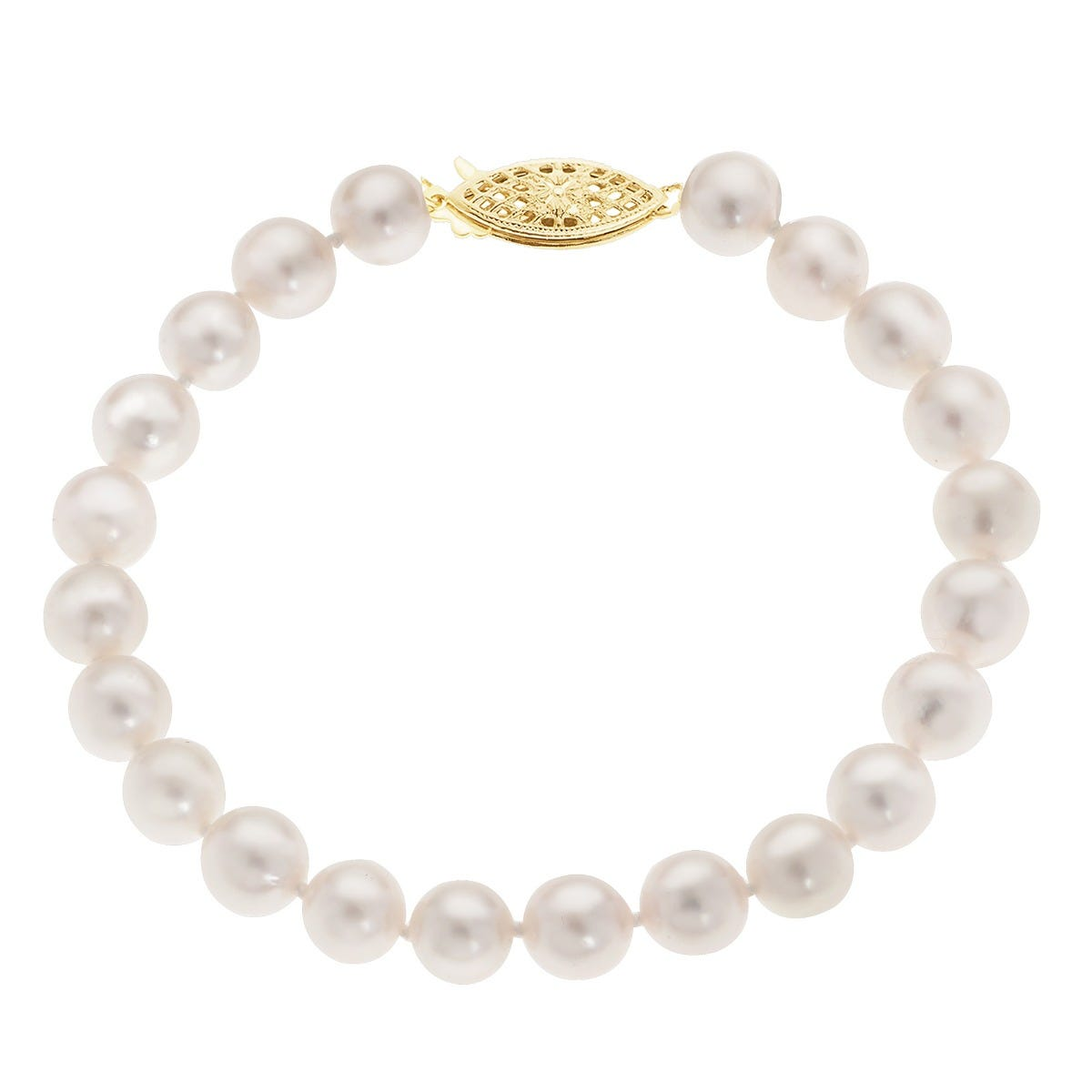 Imperial Pearl Freshwater Pearl Bracelet 14k Yellow Gold Clasp
