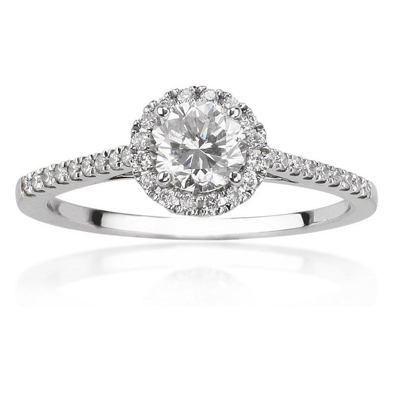Passion II. 3/4ctw. Brilliant-Cut Pavé Diamond Engagement Ring