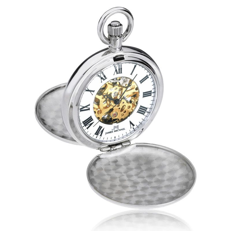 Lotus White Metal Pocket Watch