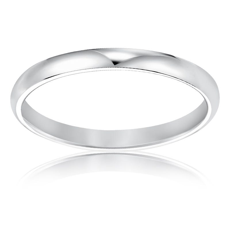 His or Hers Classic Wedding Band in 10k White Gold Size 6
