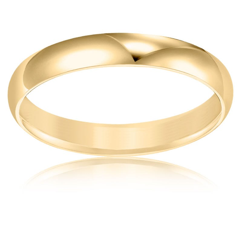 Men's 3mm Wedding Band in 10k Yellow Gold