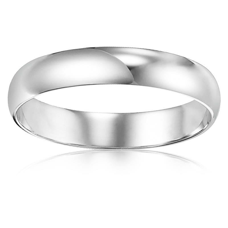 Men S 10k White Gold Wedding Band 3mm