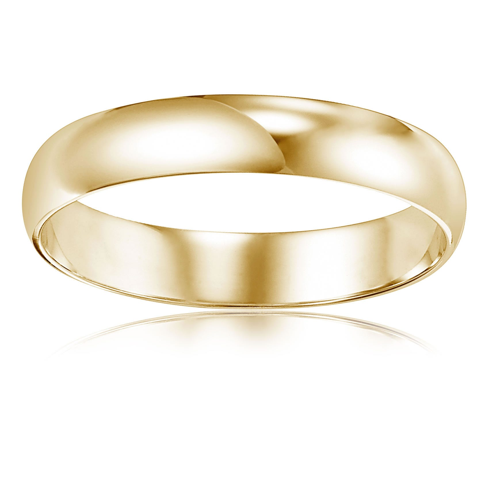 Men's Plain Wedding Band in 10k Yellow Gold