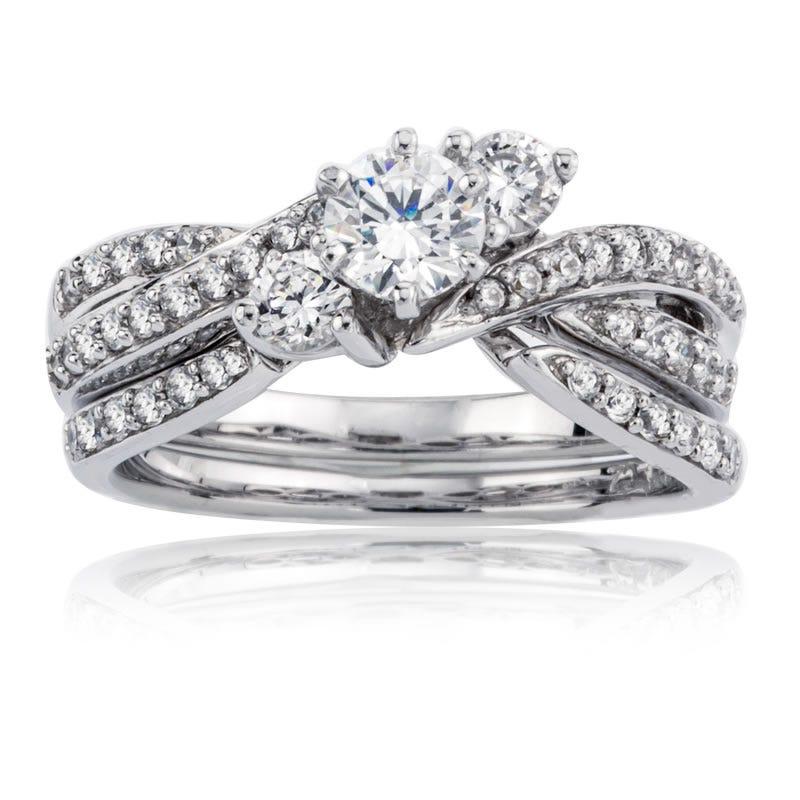 Amelia. Whimsical White Gold Diamond Engagement Ring