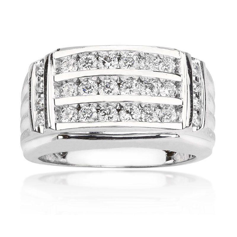 Men's 14K White Gold Diamond Ring 1ct. T.W.