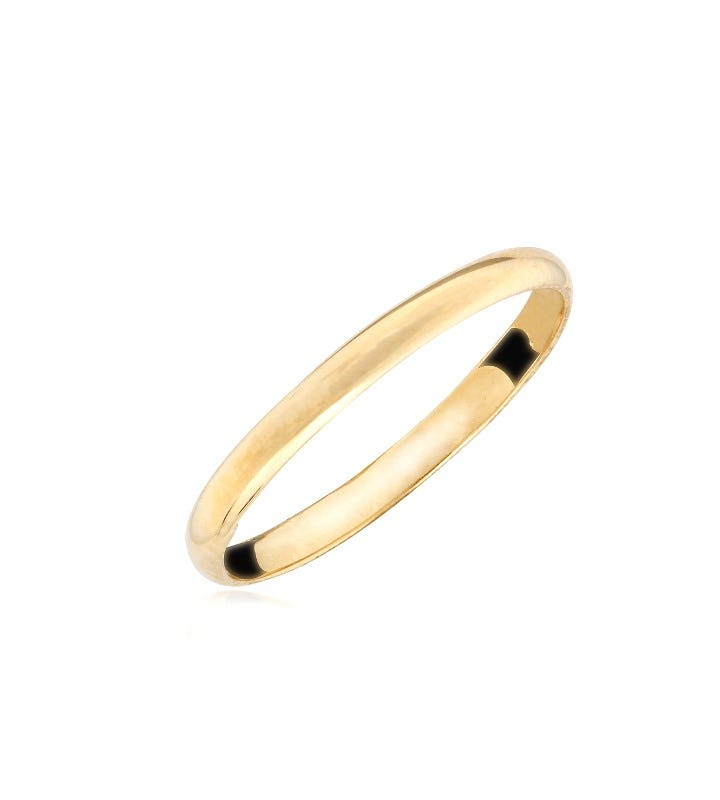 Infant/Baby Plain Polished 10k Yellow Gold Ring