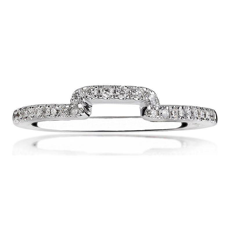 Lily. 14K White Gold Princess-Cut Diamond Wedding Band