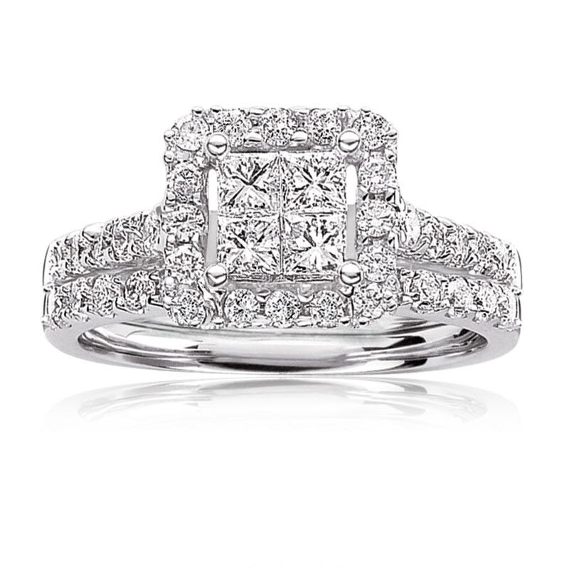 Julianna. Princess-Cut 1/2ctw. Diamond Engagement Ring 14k White Gold
