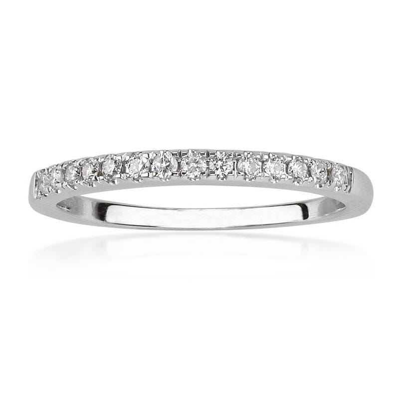 Julianna. Diamond 1/4ctw. Wedding Band in 14k White Gold