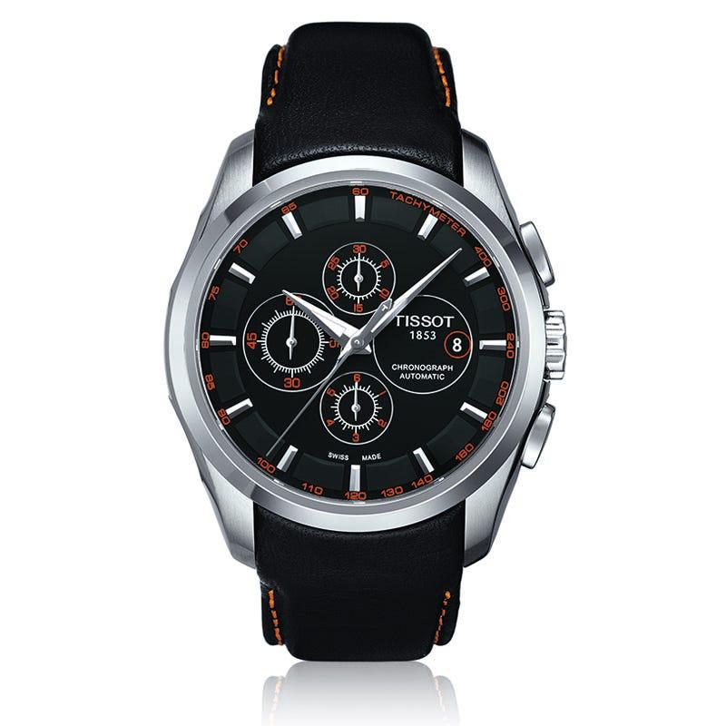 Tissot Couturier Men'S Black Automatic Trend Watch