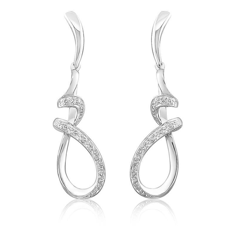 Freeform Diamond Dangle Earrings