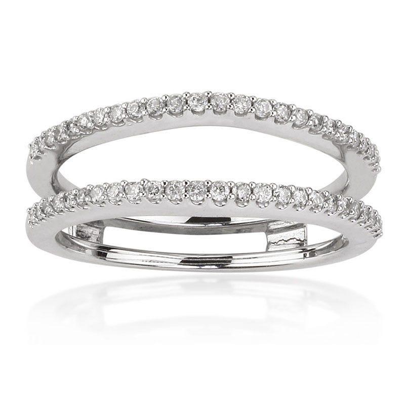 Diamond Engagement Ring Enhancer Wrap 1/4ct. T.W. in 14K White Gold