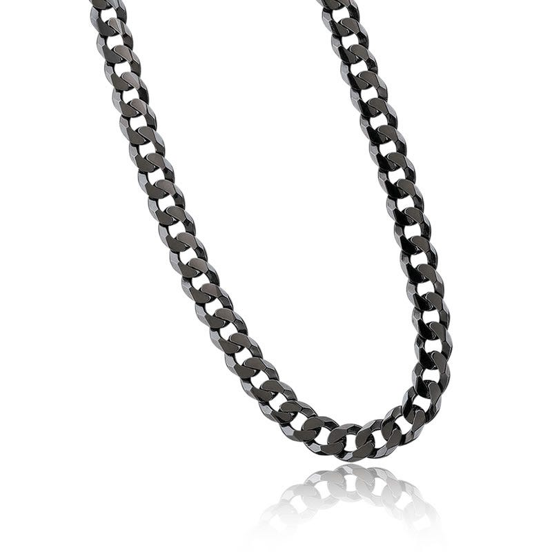 Black Rhodium Curb Chain Bracelet