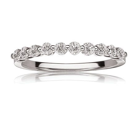 Brilliant-Cut 3/8ct. Diamond Band  in 14k White Gold