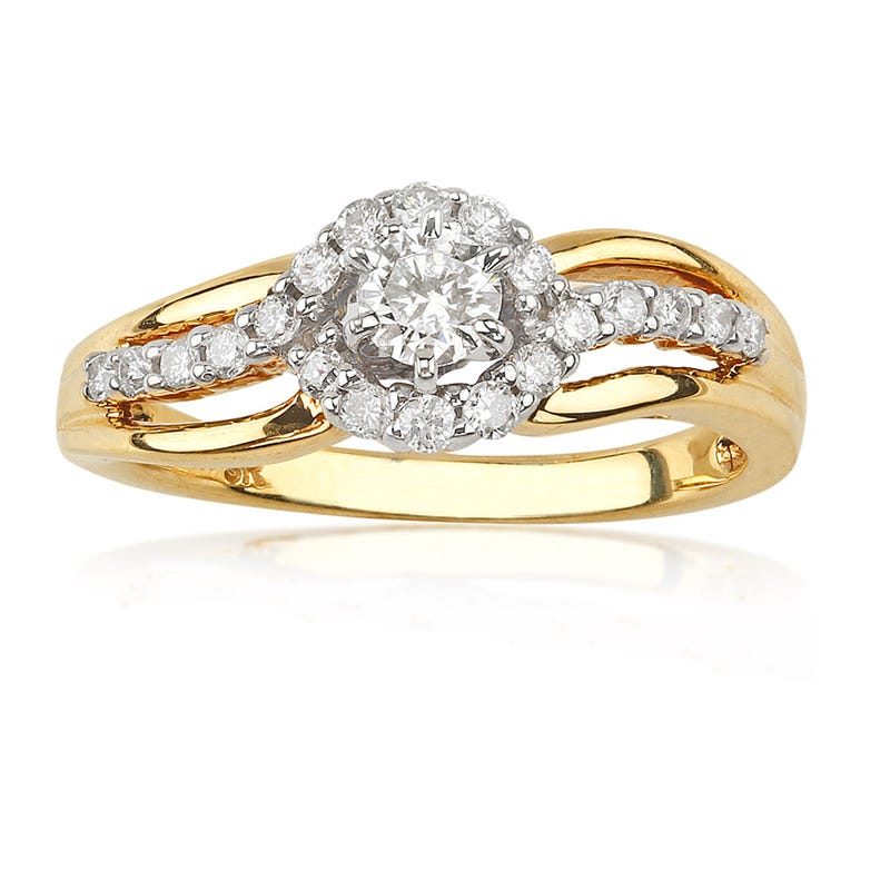 Brilliant-Cut Diamond Engagement Ring 2/5ct. t.w. in 14K Gold