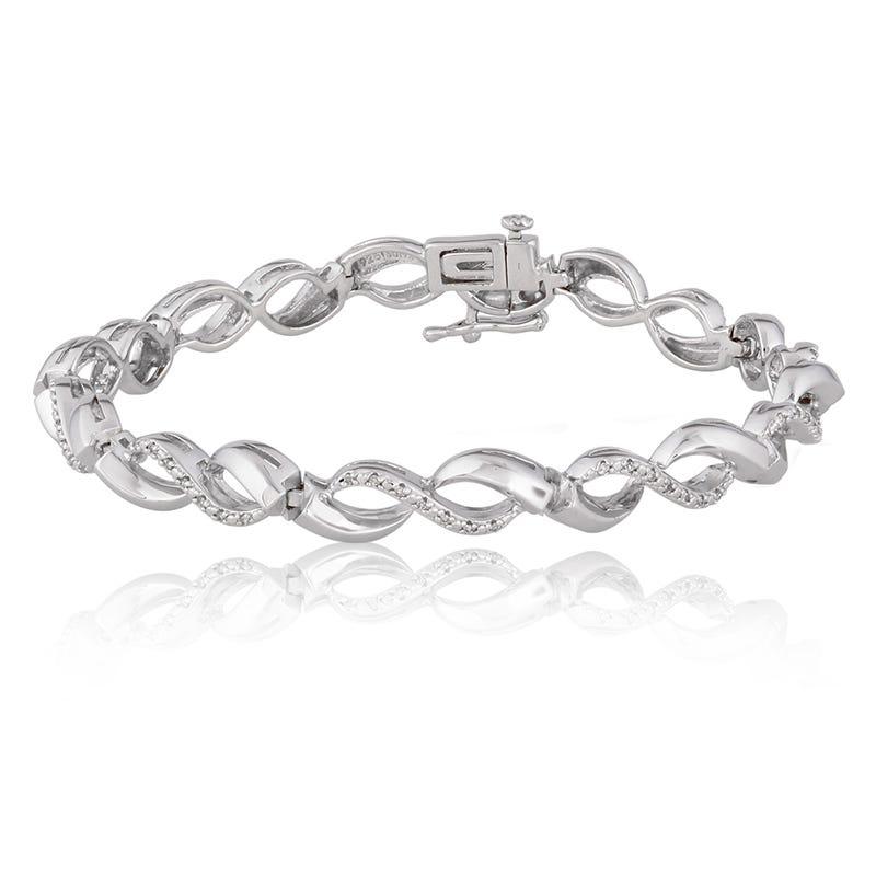 Diamond Infinity Bracelet 1/5ct. T.W.