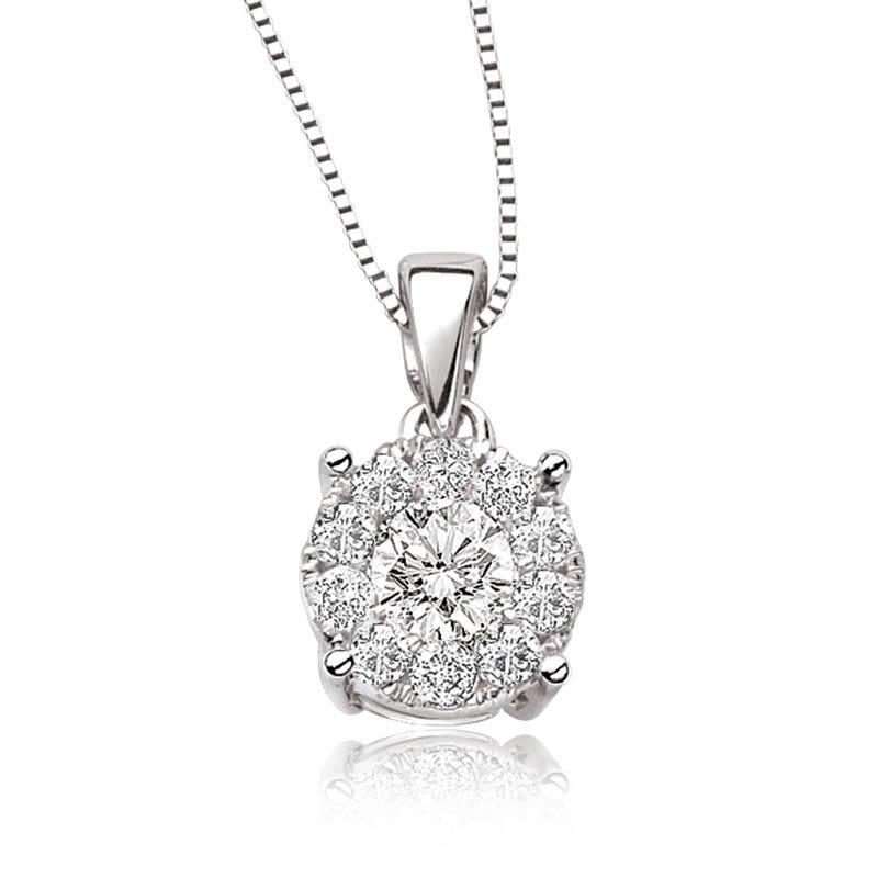 Serie 1/2ct. Diamond 14k White Gold Pendant