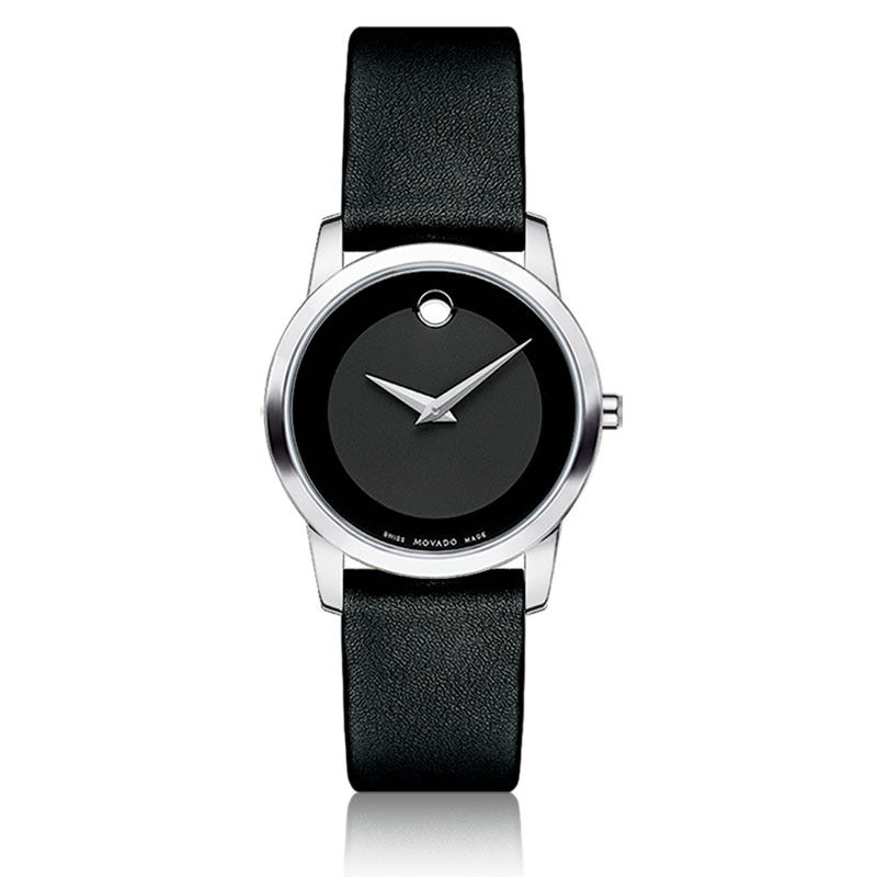 Movado Museum Classic® Ladies Watch SS Black 606503