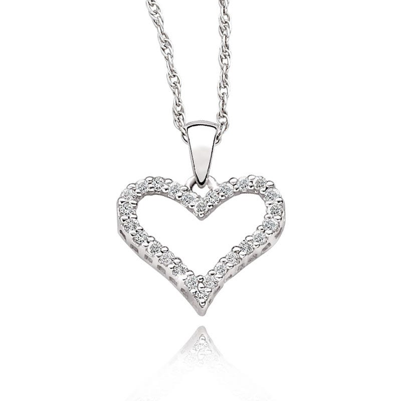 Diamond Heart Pendant 1/6ct. T.W.