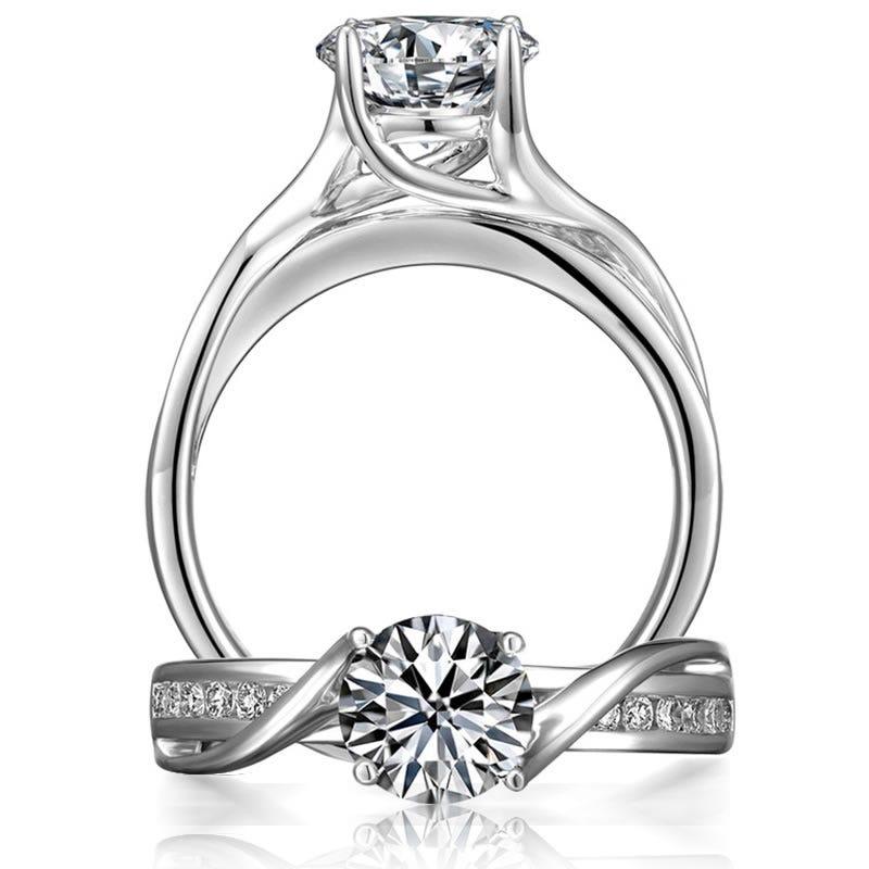 Brilliant-Cut Diamond Engagement Ring 7/8ct. T.W.