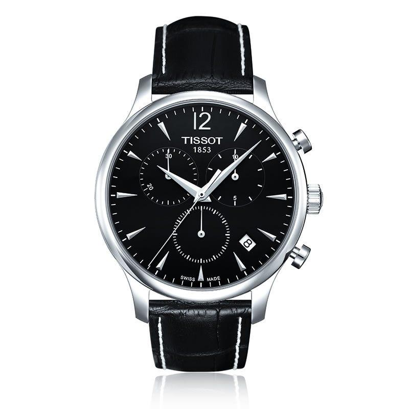 Tissot Tradition Men'S Black Chrono Classic Watch