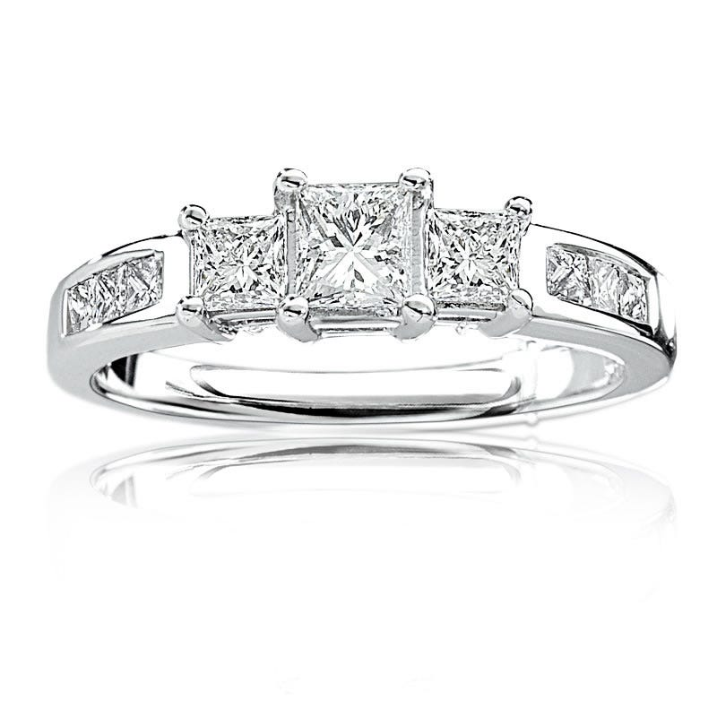 Three-Stone Princess-Cut Diamond Engagement Ring