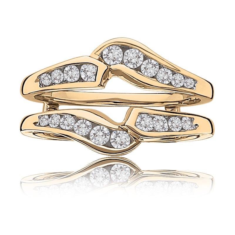 Diamond Ring Enhancer Wrap 1/2ctw in 14k Yellow Gold
