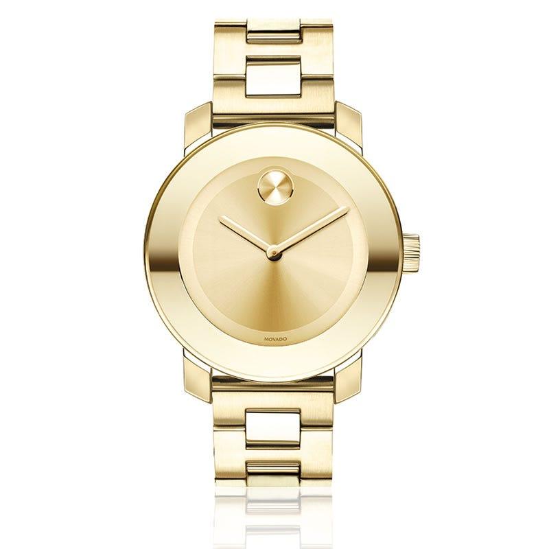 Movado Ladies' Swiss Bold Gold-Tone Stainless Steel Bracelet Watch 38mm 3600085