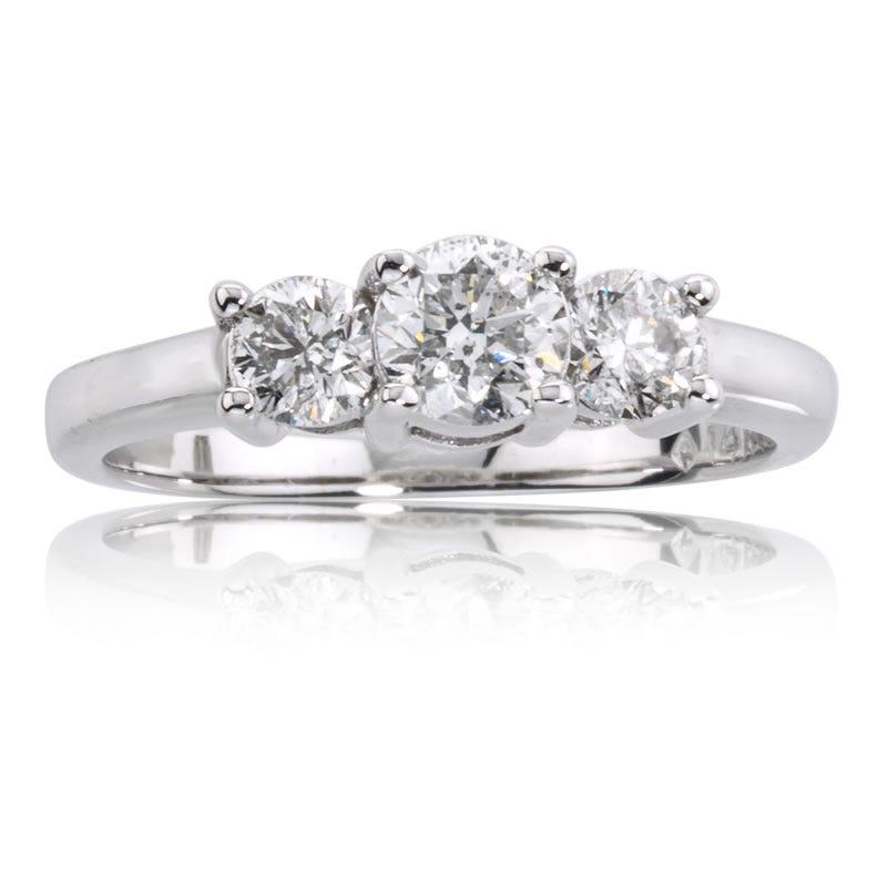 Brilliant-Cut 3 Stone Diamond Ring 3/4ct. T.W.