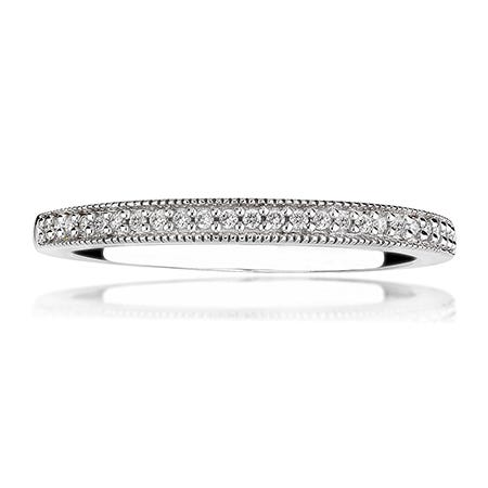 Abigail. Diamond Wedding Band in 14k White Gold
