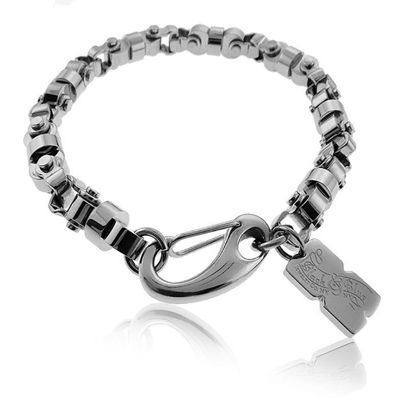 BLACK & BLUE NASSAU Chain Link Bracelet 8MM