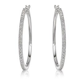 Diamond ¼ctw. Hoop Earrings in Sterling Silver