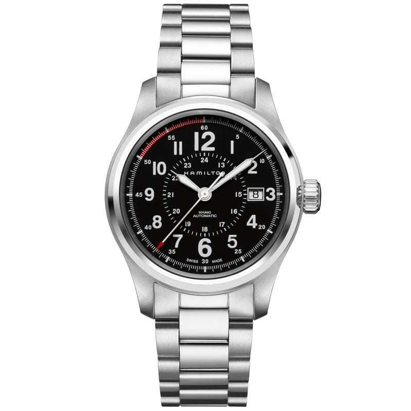 Hamilton Khaki Field Automatic Black Dial Stainless Steel Watch H70595133