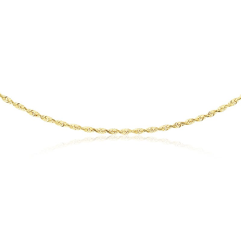 Rope 1.5mm 18-Inch Chain Necklace in 10k Yellow Gold