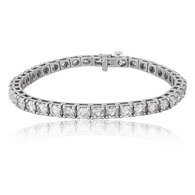 10ctw. Diamond Tennis Bracelet in 14K White Gold