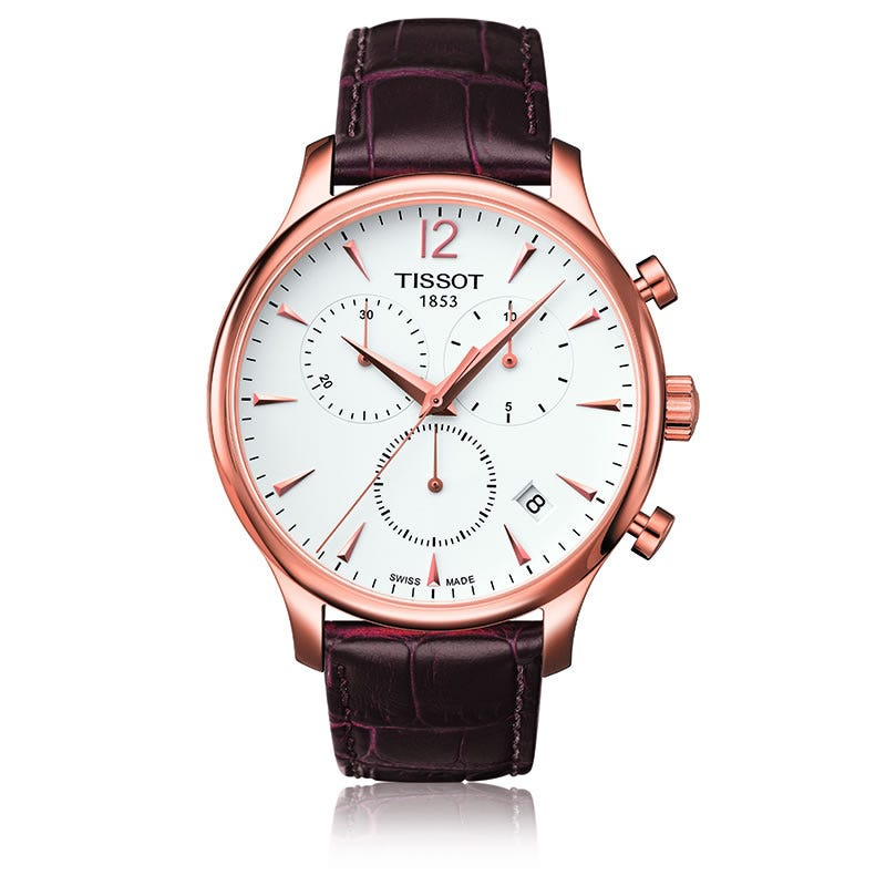 Tissot Tradition Rose Gold Pvd Men's Quartz Classic Chronograph T0636173603700