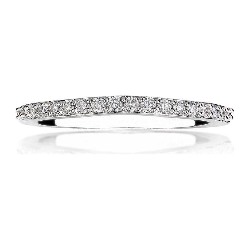 Roxi. Diamond Wedding Band in 14k White Gold