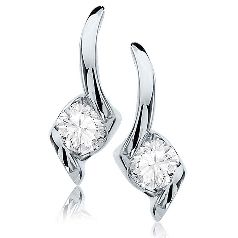 Sirena Brilliant-Cut Diamond 1/5ct. Drop Earrings in 14k White Gold