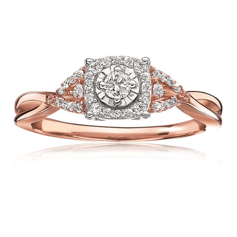 Diamond ¼ctw. Promise Ring in 10k Rose Gold
