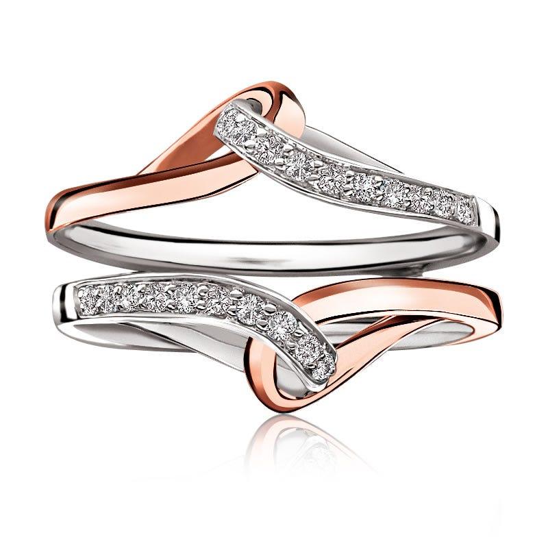 Two-Tone White & Rose Gold Diamond Enhancer 1/5ct. T.W.