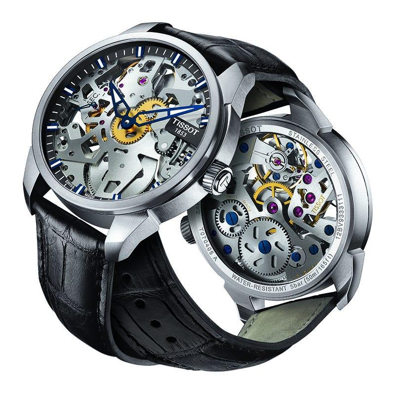 Tissot Men'S T-Complication Squelette Mechanical Watch