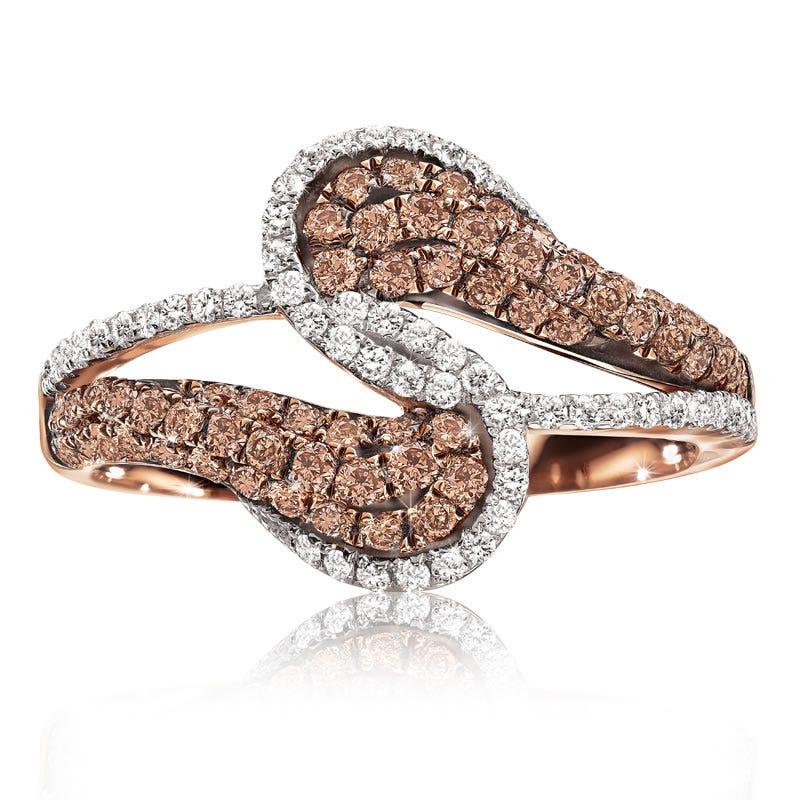 Champagne & White Diamond Fashion Ring 1-1/10ct. T.W.