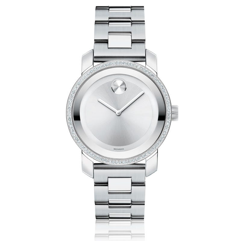 Mid-Size Movado BOLD Watch SS Silver 3600149