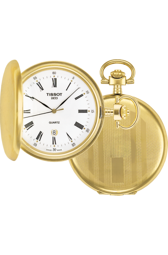 Tissot Pocket Watch Savonnette Quartz Hunter Pocket Watch T83455313