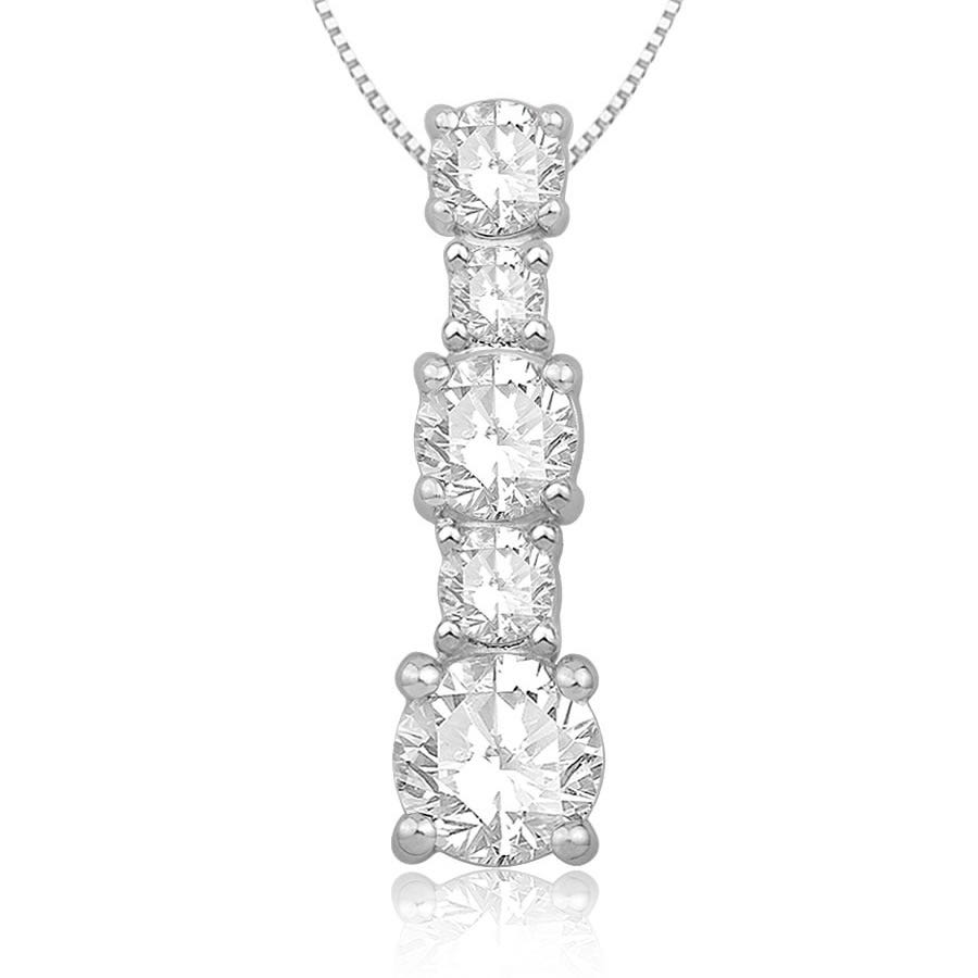 Three-Stone Diamond Pendant