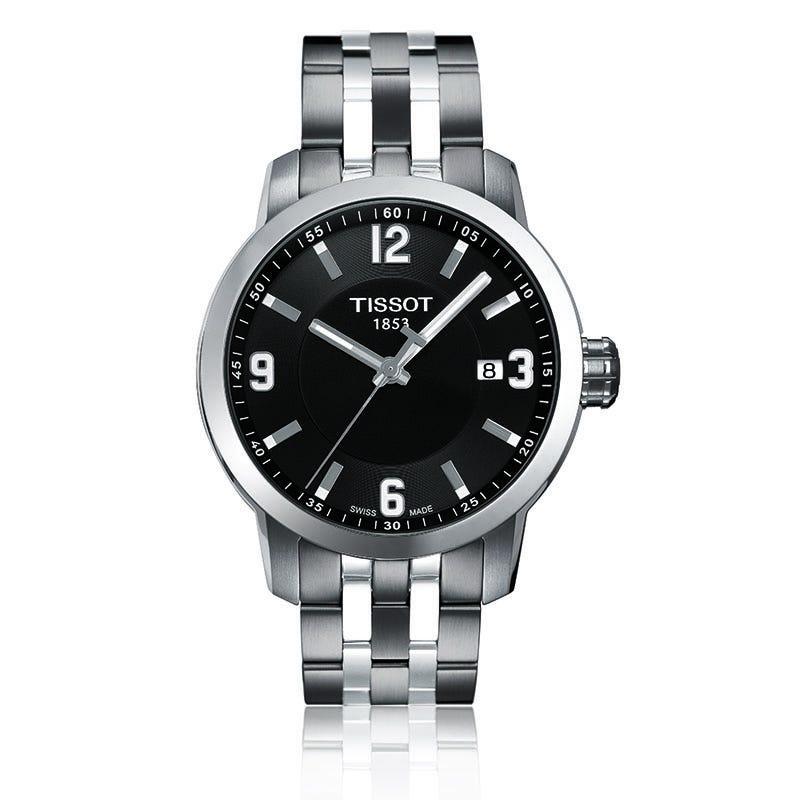 Tissot Prc 200 Men'S Black Quartz Sport Watch