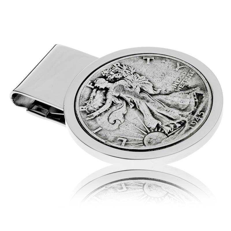 Liberty Half-Dollar Coin Money Clip