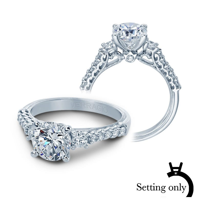 Verragio Classic Diamond Engagement Ring Setting V-905-R7