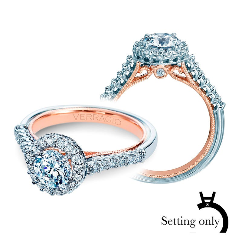 Verragio Classic Diamond Halo Engagement Ring Setting 903-R6