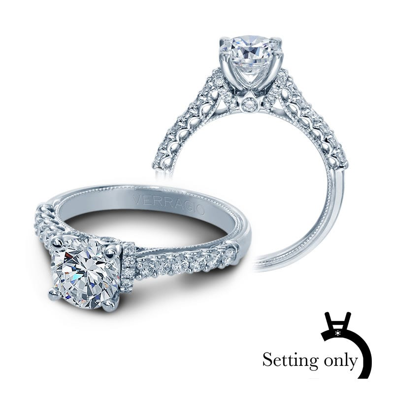 Verragio Classic Brilliant Diamond Engagement Ring Setting V-906-R7